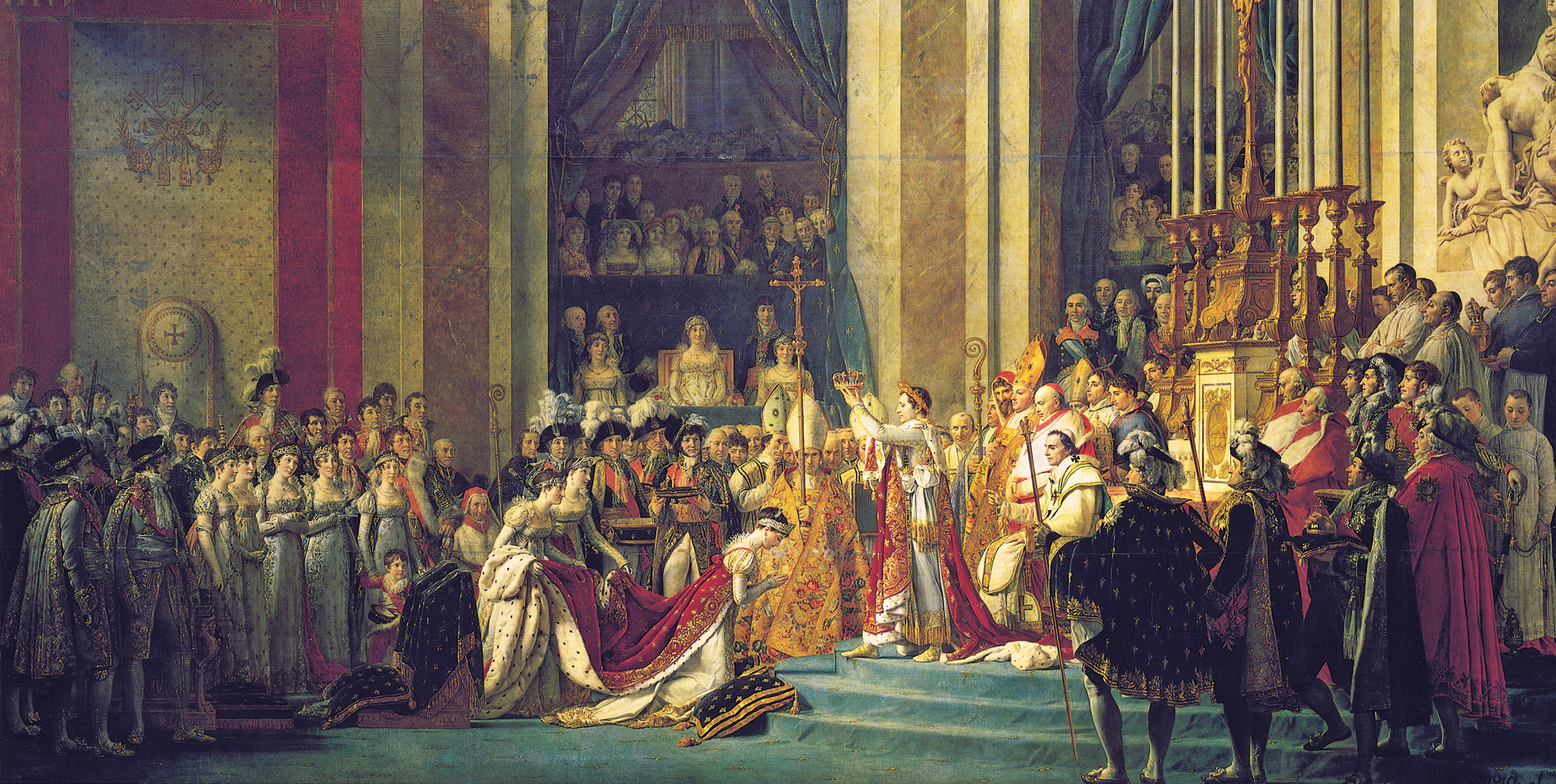Napoleon, once an outcast, was crowned emperor in 1804.